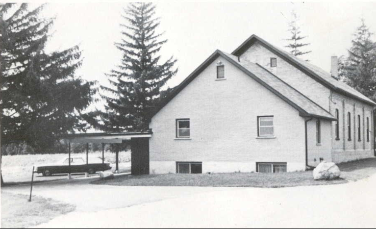The newly renovated and enlarged church as seen from the rear of the building ~ 1972